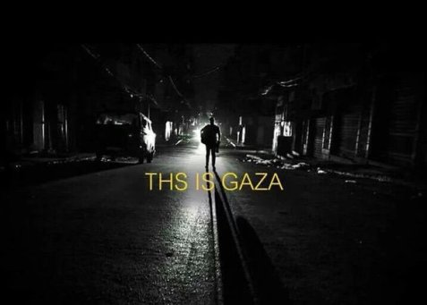 This is #Gaza during power outage .. !!  We are still like this for more than 12 hours per day