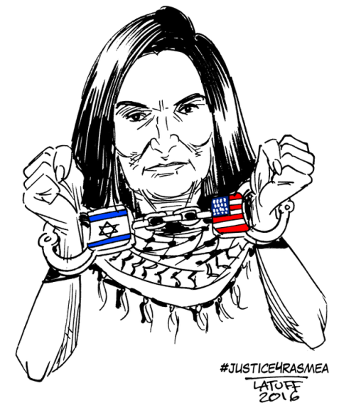 Cartoon of the Hour: #Justice4Rasmea A Palestinian Hero!