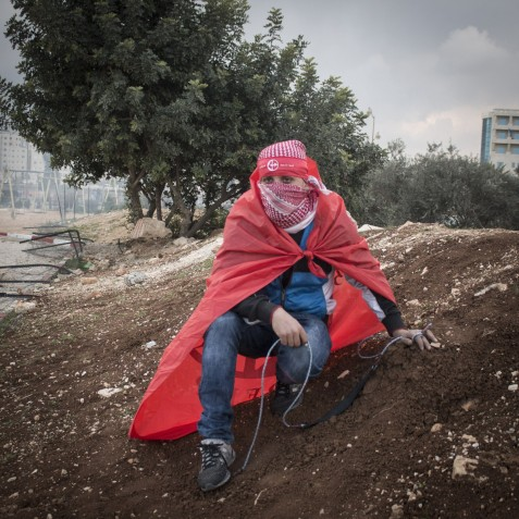 """""""The [peace] agreements didn't work. The older generations should have changed them. Our role, you can say, is to refuse these agreements. We are against them, because they do no good to us and our land."""" North of Ramallah, near the Beit El settlement"""