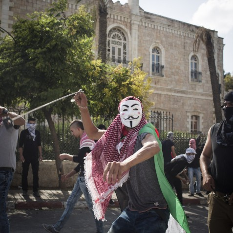 """""""In the night, at around 1am, the Israeli army comes and arrests men. They also threaten families that their homes will be demolished if their sons will continue to go to throw stones."""" Bethlehem"""
