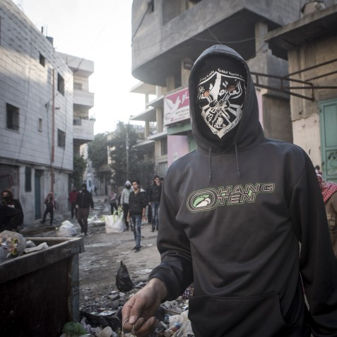 """""""The [PA's] Presidential Guard stood in our way. We had an altercation with them. They were kind of embarrassed. Then they told us their work there was only for an hour and a half and then they would allow us in. We refused and kept going."""" Bethlehem"""