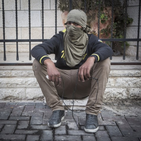 """""""Sometimes, our families try to talk to us and make us stay home. But every home has someone who has been arrested or killed. So you are also ashamed if you prevent your son from going to the clashes. My mother asked me to come back after one hour, just so she can see I am alright."""" Bethlehem"""