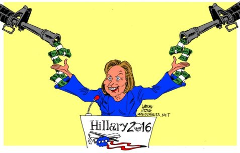 Weapon manufacturers support Hillary Clinton more than any other candidate