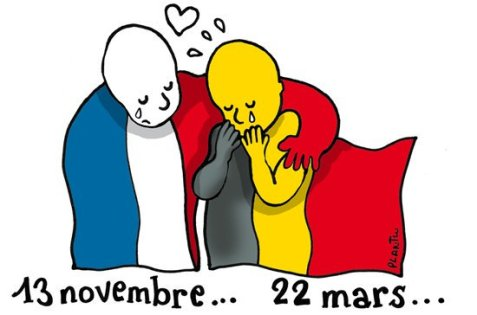 Artists around the world show solidarity with Brussels
