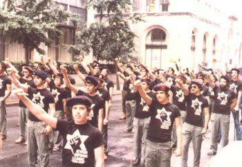 kahana supporters give nazi salute