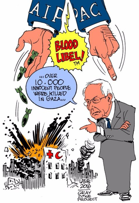 Israel lobbyists distract from Gaza atrocities by accusing Bernie of anti-Semitism