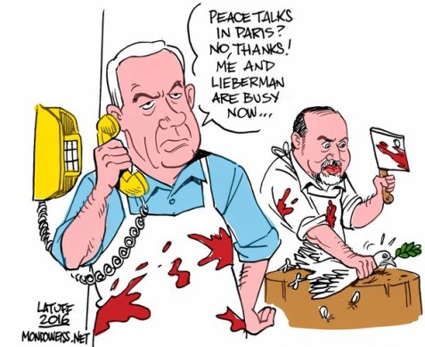 Netanyahu and his new partner AvigdorLiberman respond to Paris peace talks