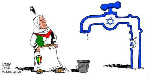 Israel Cuts Water to West Bank During Ramadan Image by Carlos Latuff