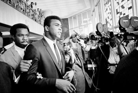 In April 1967, Ali refused to be drafted and requested conscientious-objector status. He was immediately stripped of his title by boxing commissions around the country. Several months later he was convicted of draft evasion, a verdict he appealed. Credit Ed Kolenovsky/Associated Press