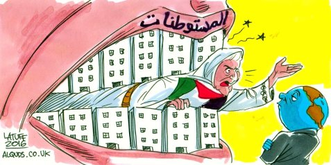 Mother Palestine and the Israeli settlements