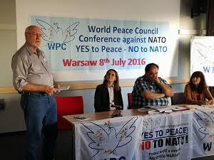 UNAC leader, Phil Wilayto speaks at anti-NATO Summit in Warsaw  Saturday