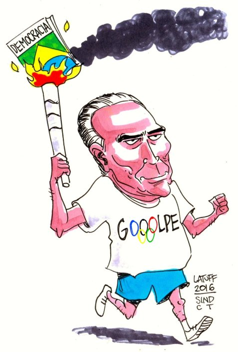 President Michel Temer lights the torch