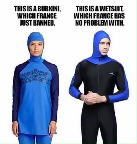 If it is OK for a man to wear it, why is it illegal for a woman to wear it?