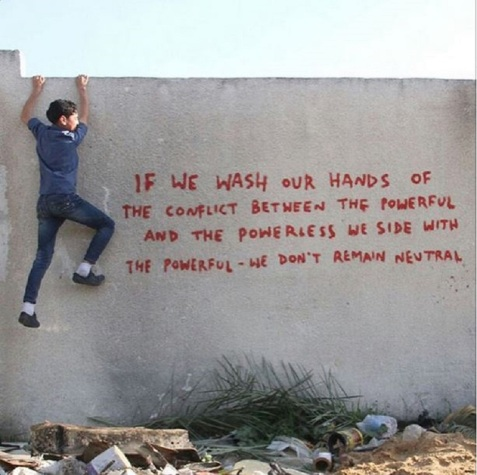 Bansky graffiti