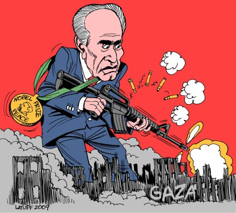 Shimon Peres, Nobel Peace Prize Laureate in Gaza, 2009