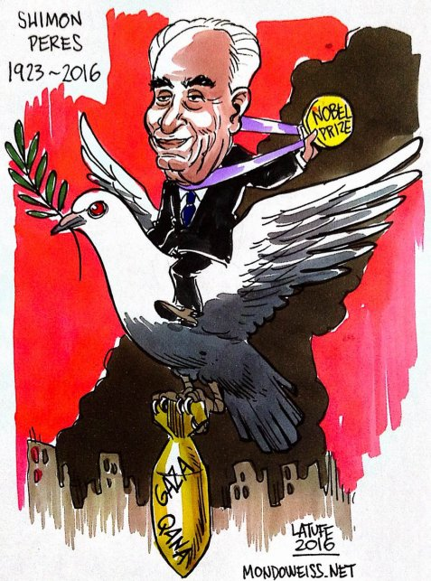 "Shimon Peres never expressed regret over Qana operation that killed over 100 civilians, ""[I'm] at peace with it."""