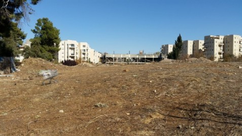 The Jerusalem site formerly known as the Allenby Barracks, a possible location of the US Embassy (Photo: Raphael Ahren/Times of Israel)