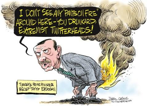 """Daryl Cagle: """"Erdoğan"""""""