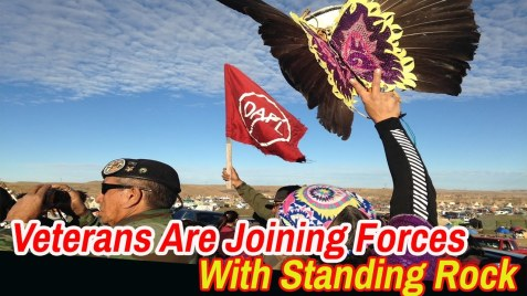 Veterans join Standing Rock water protectors