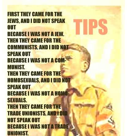 Is history repeating itself? Speak out NOW before they come for YOU!