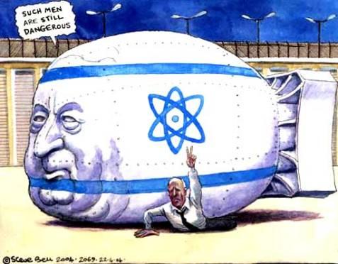 Steve Bell on the release of Israeli nuclear whistleblower Mordechai Vanunu