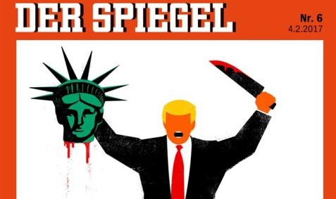 Berlin German news magazine Der Spiegel recently came under fire for publishing an image of US President Donald Trump beheading the Statue of Liberty.