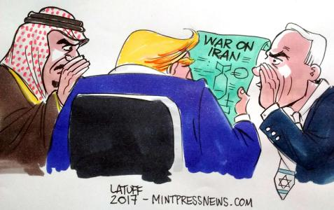 Trump's War On Iran / Cartoon by Carlos Latuff For MintPress